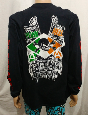 Image of Long sleeve No future Snow White front Anarchist punk gang back