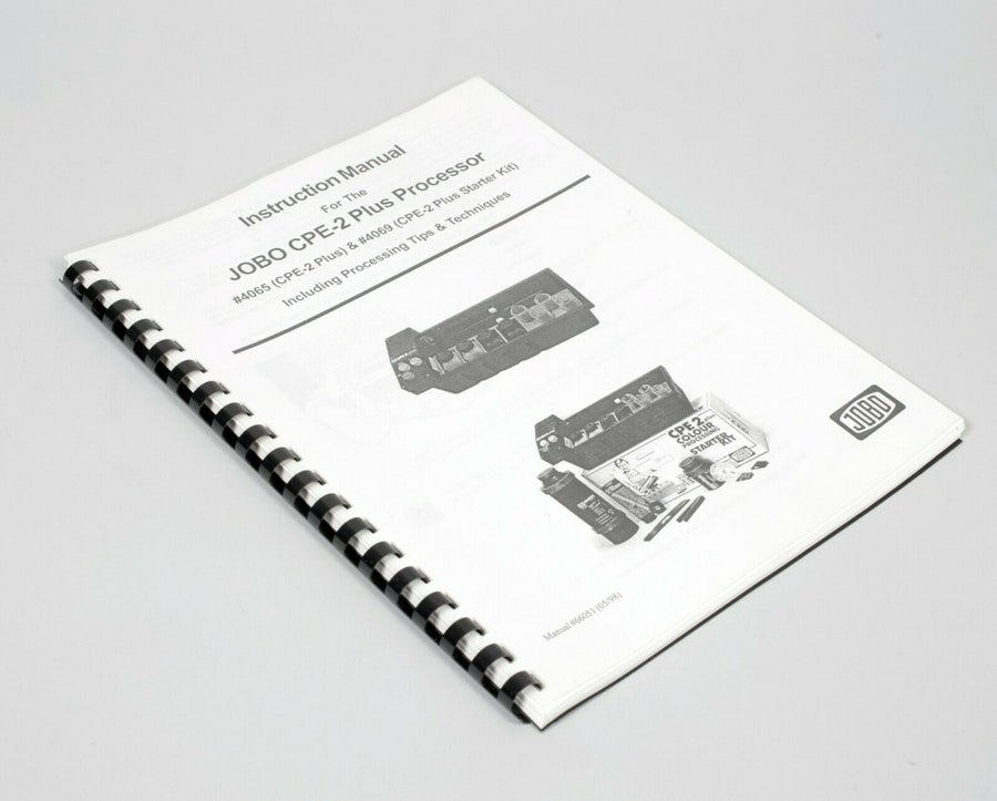 """Image of Original Jobo CPE2+ User manual with """"processing hints"""" LATEST VERSION"""