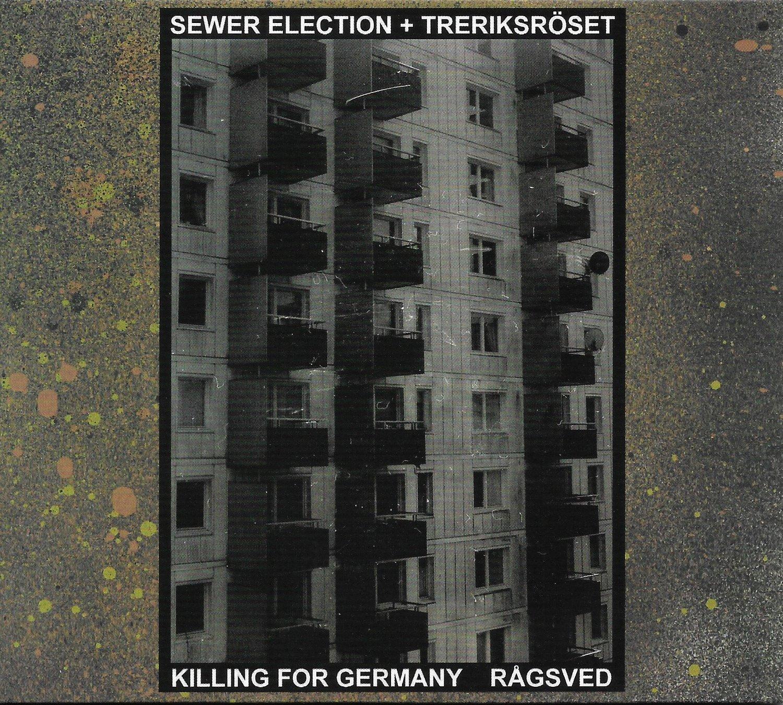 Image of SEWER ELECTION + TRERIKSRÖSET - Killing For Germany / Rågsved CD (White Centipede Noise)