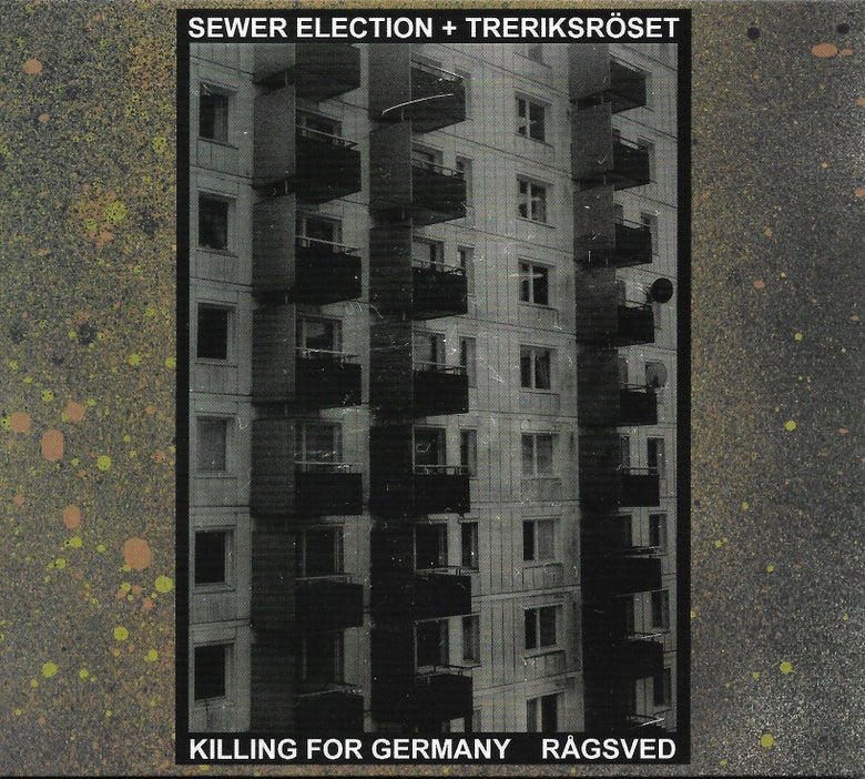 Image of SEWER ELECTION + TRERIKSRÖSET - Killing For Germany / Rågsved CD (White Centipede Noise)