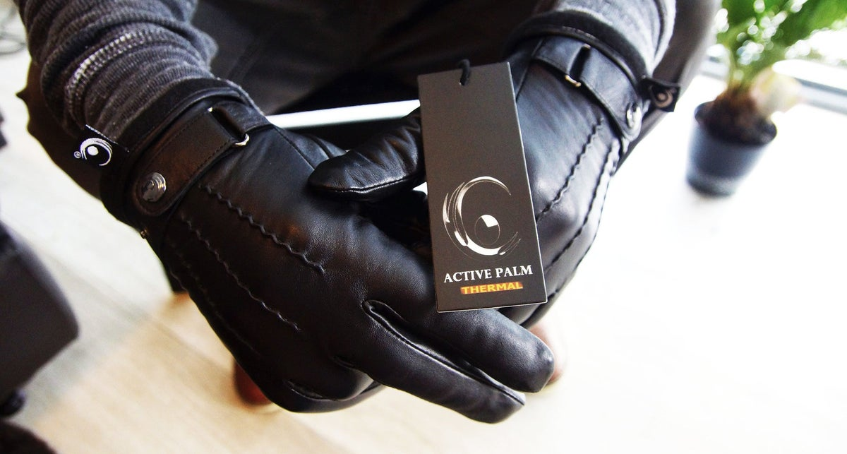 Image of The Active Palm ➐ ™  - Thermal 🔥🔥 - Touchscreen Leather Gloves (Black)
