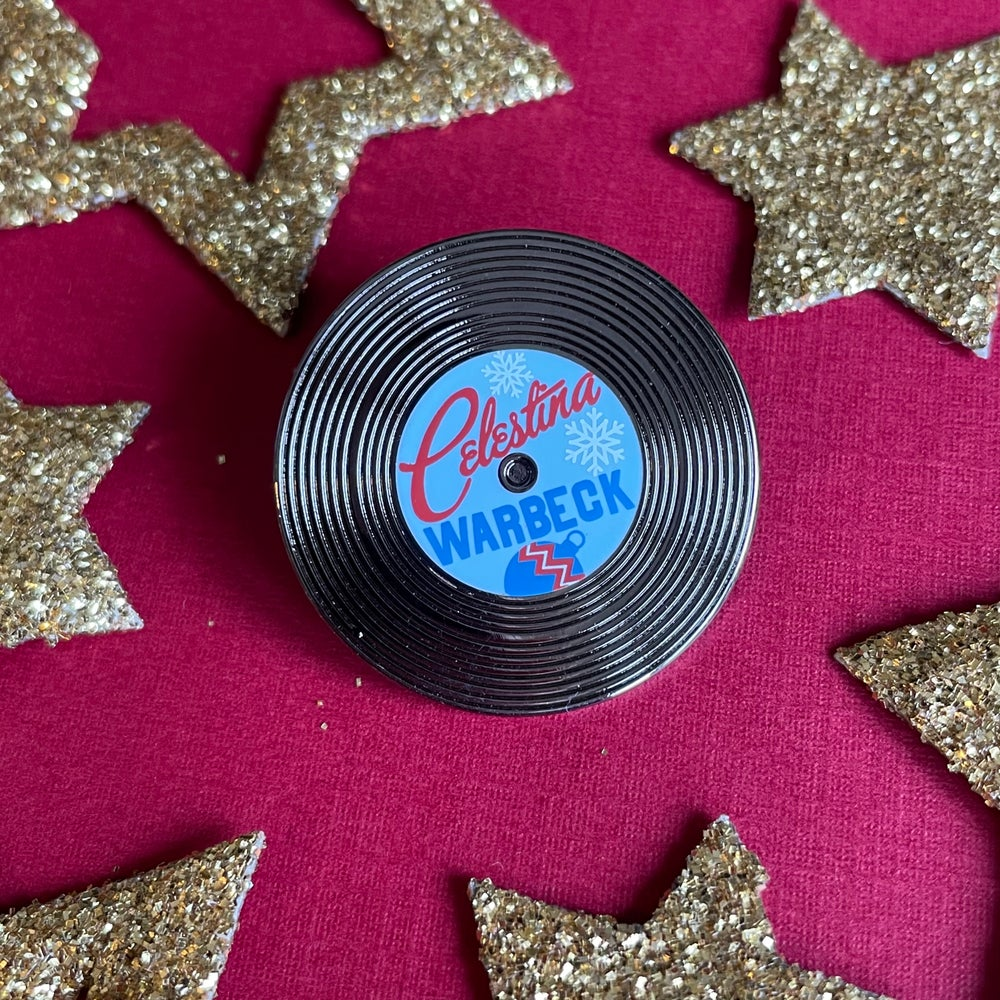 Image of Celestina Vinyl Record Pin - Holiday Edition
