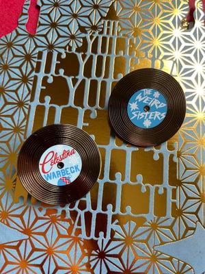 Image of Celestina Vinyl Record Pin - Holiday Edition