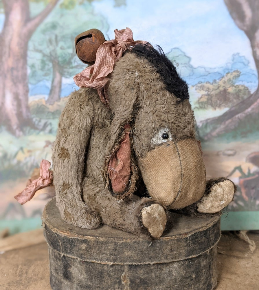 """Image of 6"""" old Vintage Classic Style Eeyore Donkey by Whendi's Bears"""