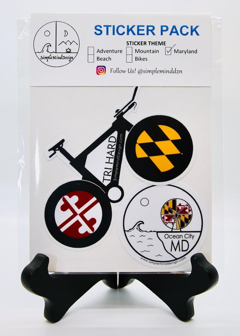 Image of Maryland Sticker Pack (Triathlon Bike)