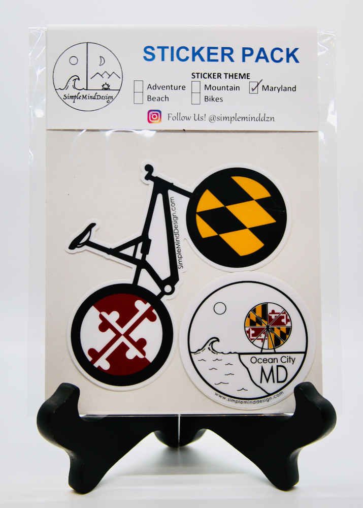 Image of Maryland Sticker Pack (Mountain Bike)
