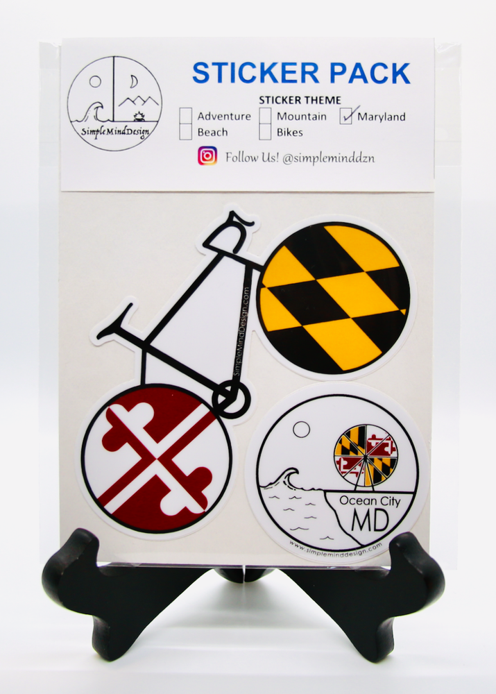 Image of Maryland Sticker Pack (Road Bike)