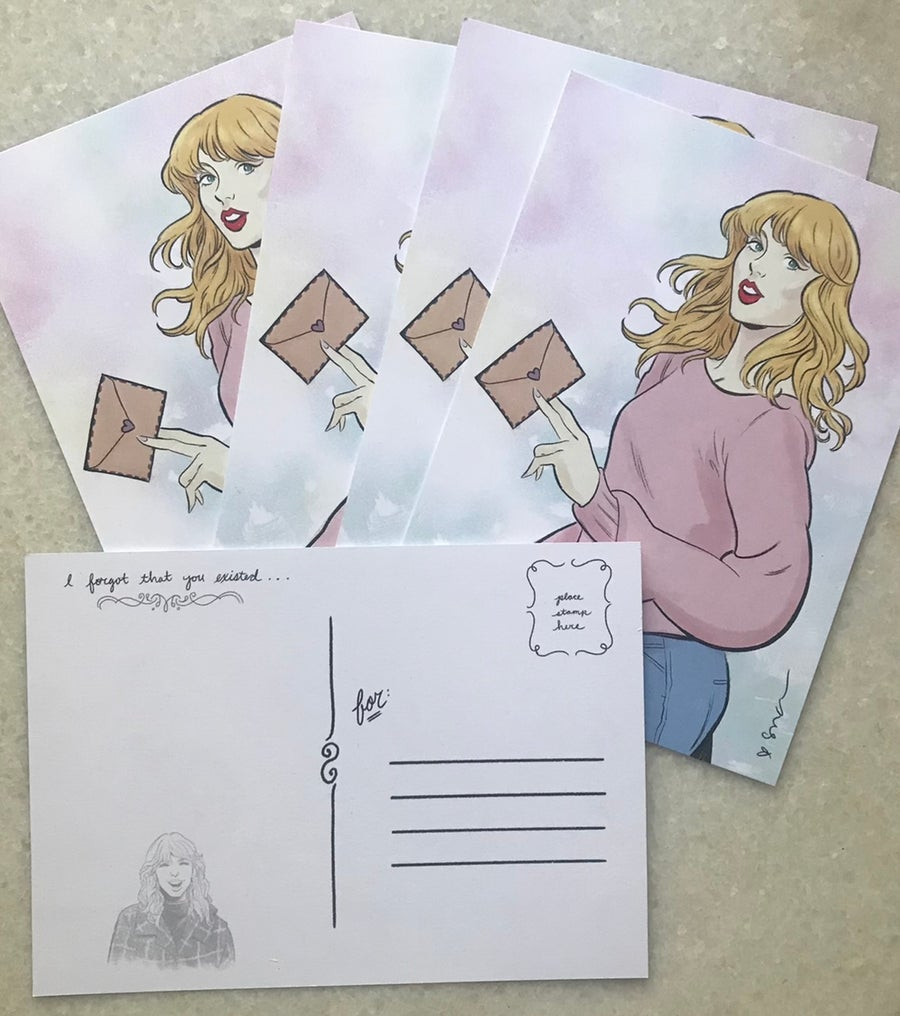 """Image of """"I forgot that you existed"""" postcard set"""