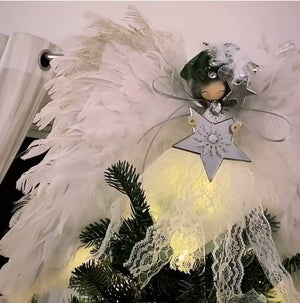 Image of Decorative Large Angel With Large Feather Wings