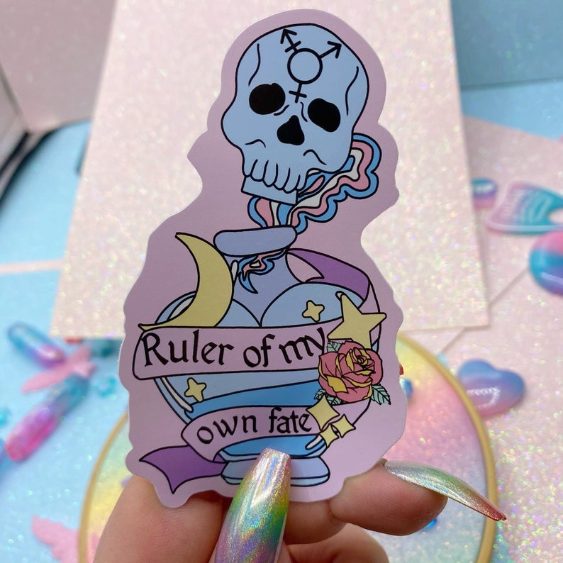 Image of Ruler Of My Own Fate Large Vinyl Sticker