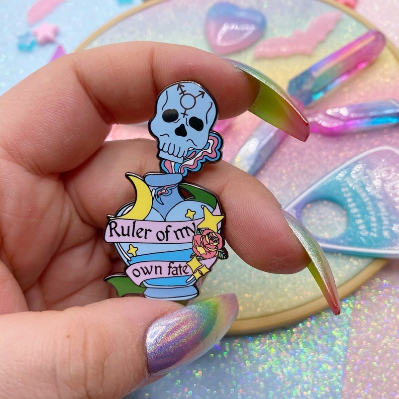 Image of Ruler Of My Own Fate Enamel Pin
