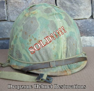 Image of WWII M1 USMC Helmet & Westinghouse Liner Schlueter Front Seam Fixed Bale