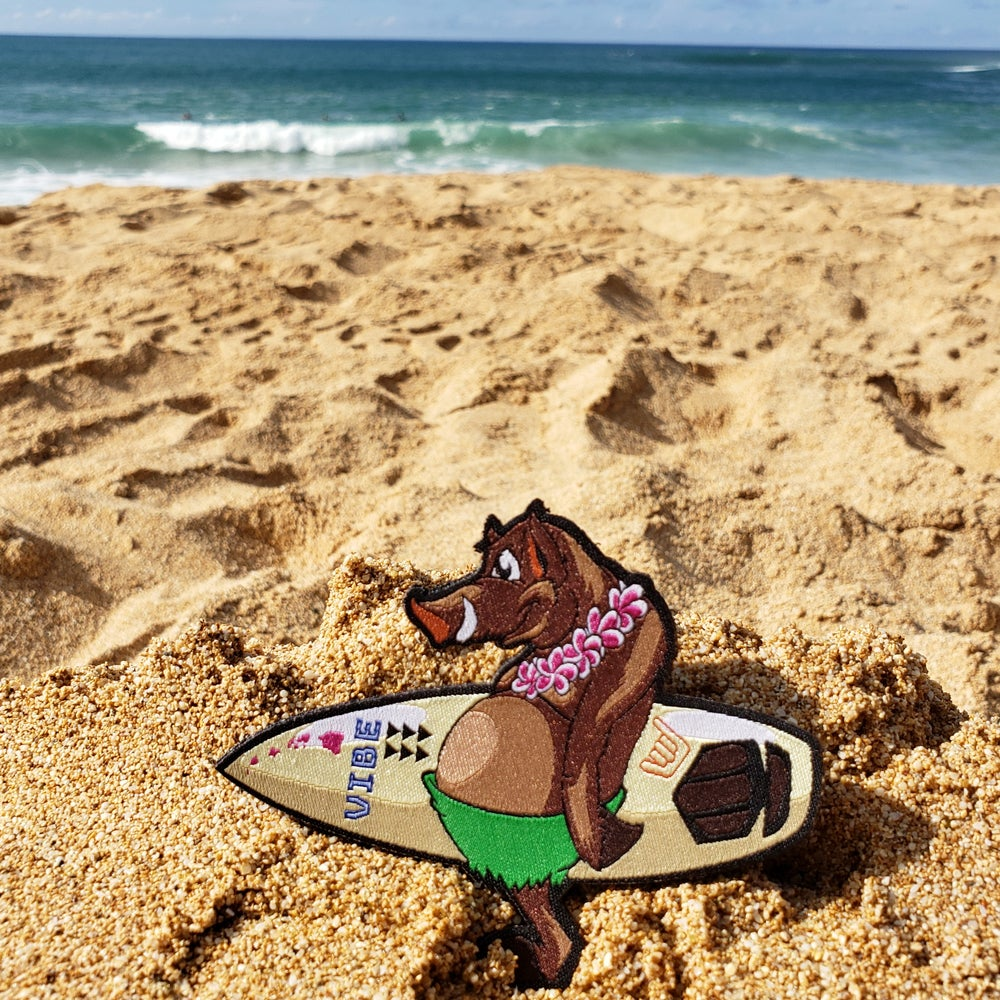 """Image of """"Bacon"""" North Shores Surfing Pig"""