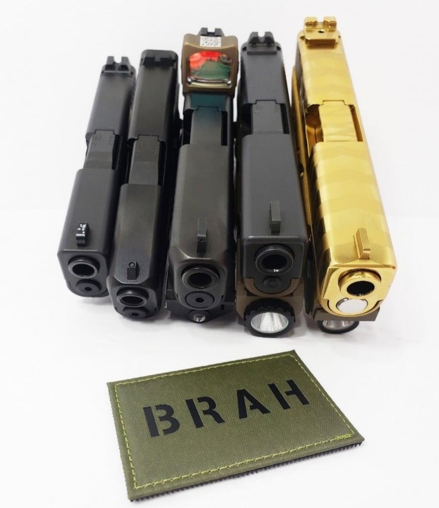 """Image of """"BRAH"""" laser cut green"""