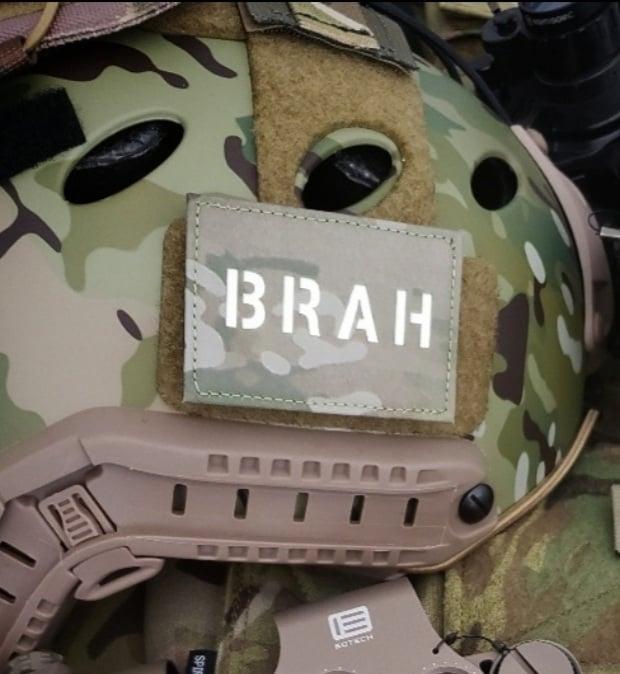 """Image of """"BRAH"""" laser cut mulitcam/white gitd"""