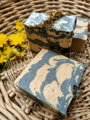 Dandelion Honey and Activated Charcoal soap