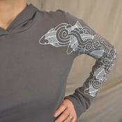 Image of Swimming Koi tattoo sleeve hoodie