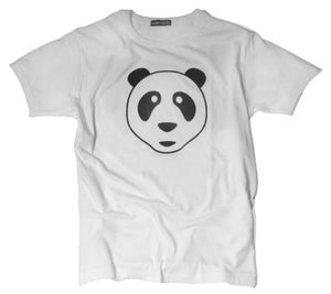 Image of Giaroye Panda Flock Outline Crew Neck T Shirt