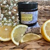 Lemon and Pepper Candle in an Amber Glass Jar