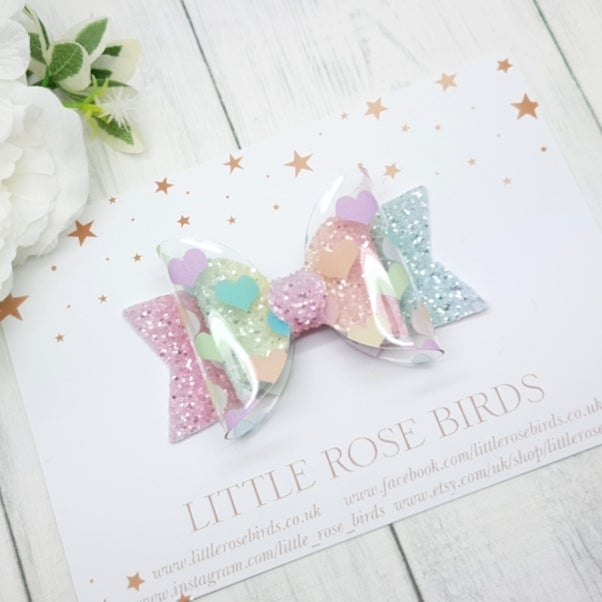 Image of Pastel Hearts Bow