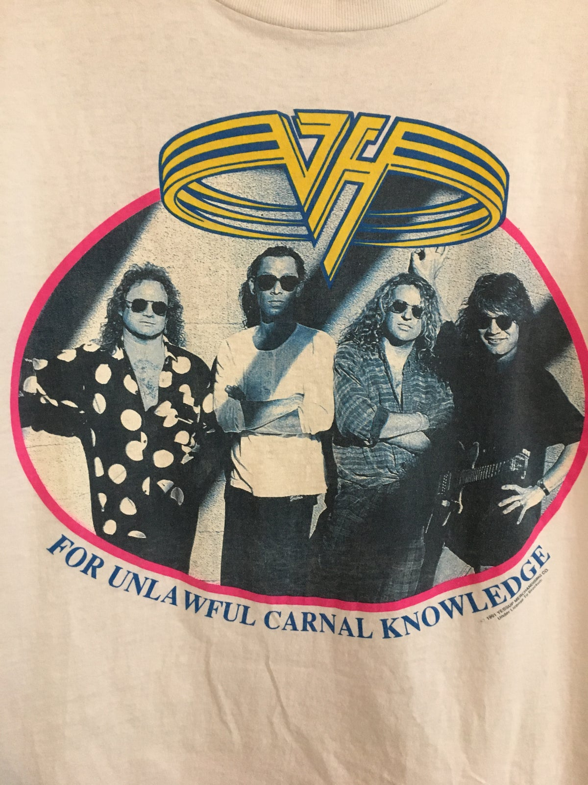 1991 Rare Van Halen  For Unlawful Carnal Knowledge Tee