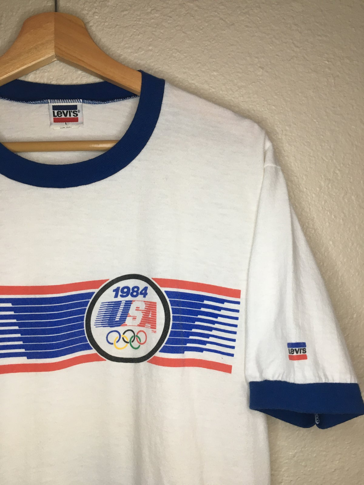 1984 Levi's Strauss USA  Olympic's Ringer  Tee