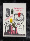 Vintage 1960's Monster Heads Gumball Machine Charms
