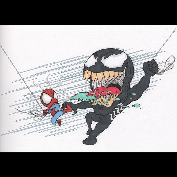 Image of Spidey vs Venom Art Print
