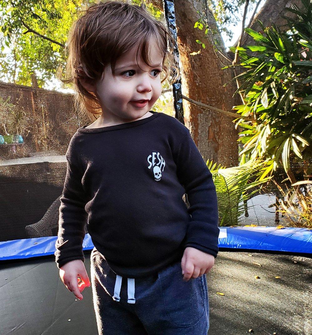Image of KIDS Seshskull Unisex Long Sleeve PJ Top