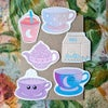 Cute Drinks - set of 6 stickers