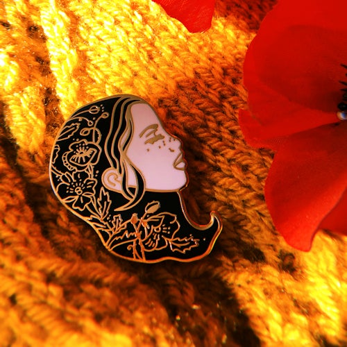 Image of Poppy Girl Enamel Pin