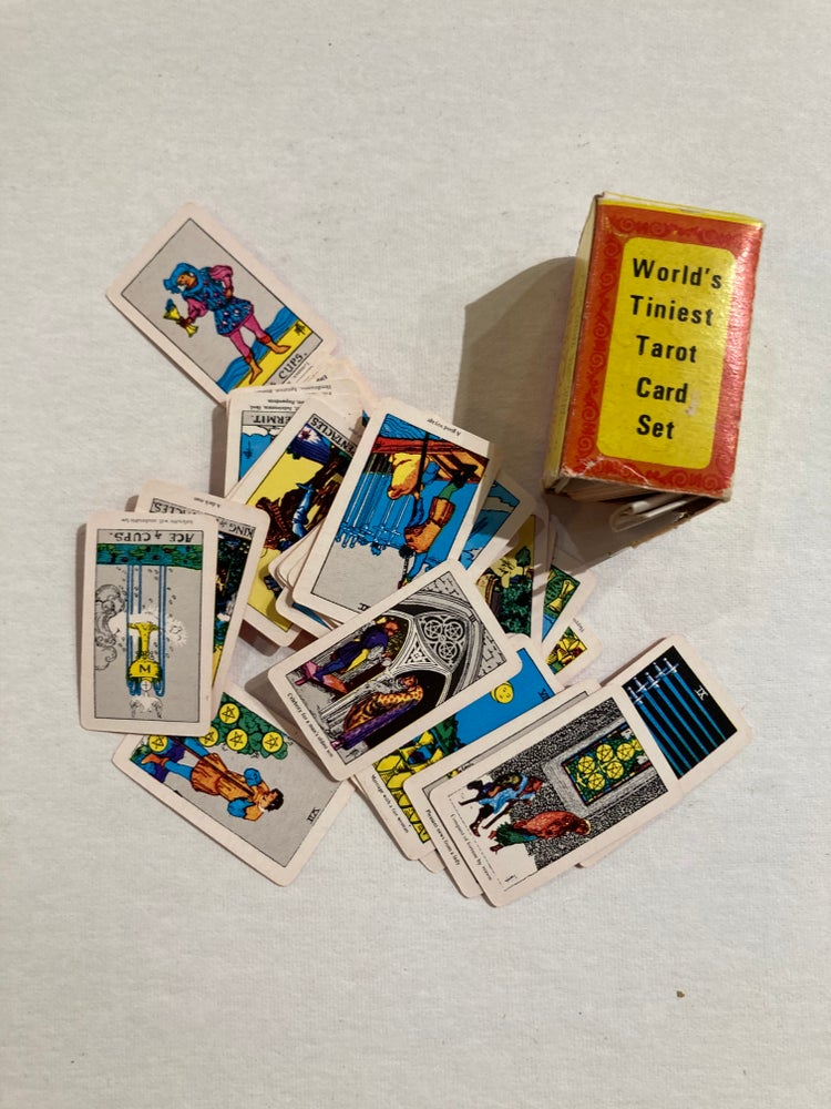 Image of World's Tiniest Tarot Deck 1960s