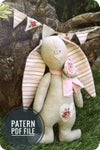 Pdf sewing pattern - Easter Bunny