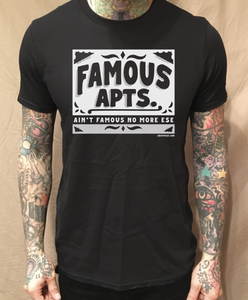Image of FAMOUS APARTMENTS BLACK TEE