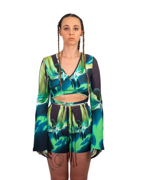 Image of (PRE-ORDER) The Seven Sisters Two Piece Crop Top and Shorts Set