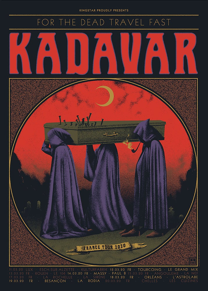 Image of 'KADAVAR France Tour 2020' Artist Proof
