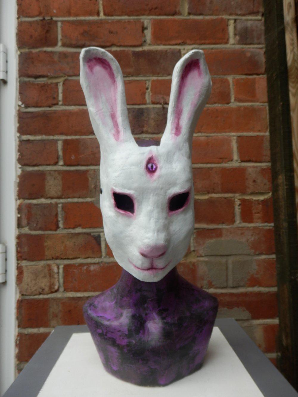 White Rabbit Bunny Mask