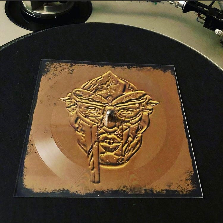 "Image of ""WhatsDOOMee"" lathe cut 6"" square picture disc"