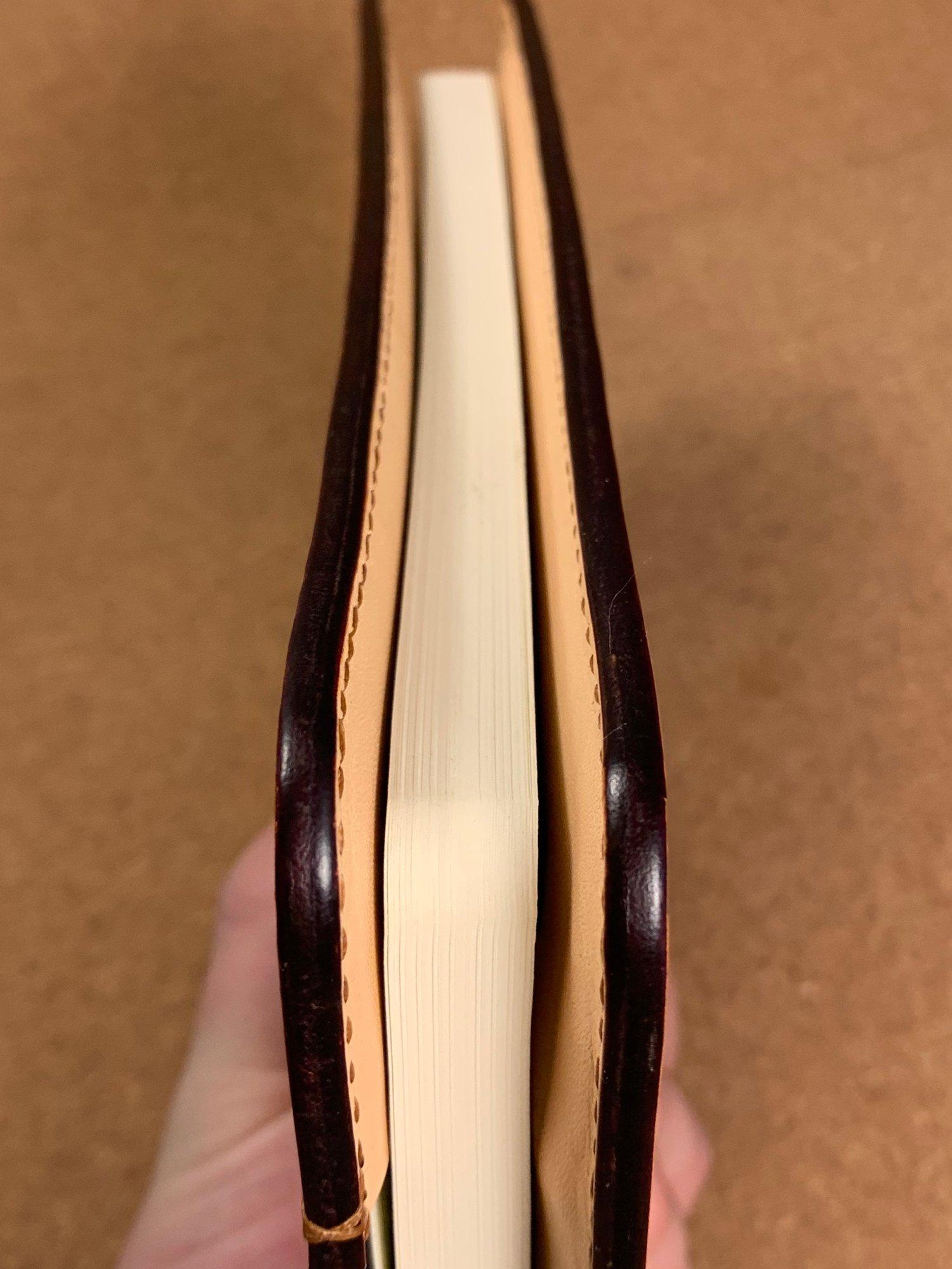 Image of Hand Tooled Feather Providence - Large Hardback Moleskine Journal