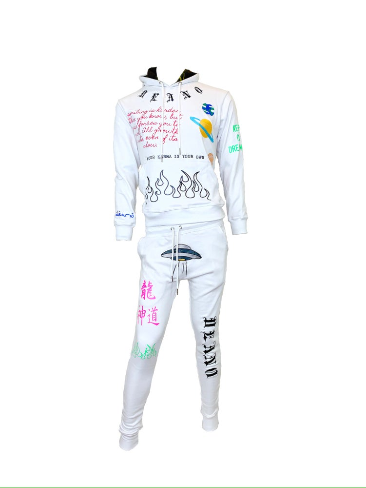 Image of MM02 Bad Space Sweatsuit Blanc