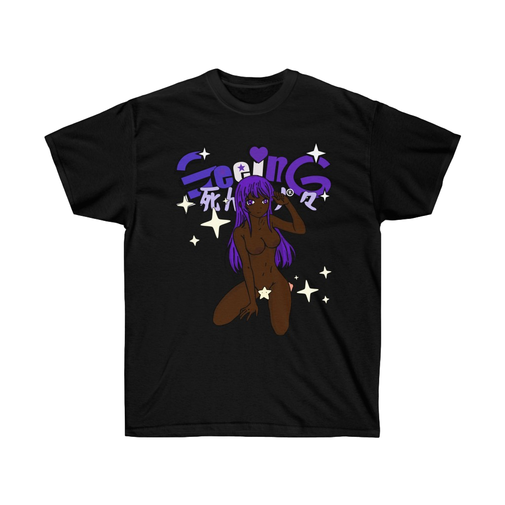 Image of THE GIRL WITH PURPLE HAIR T-SHIRT