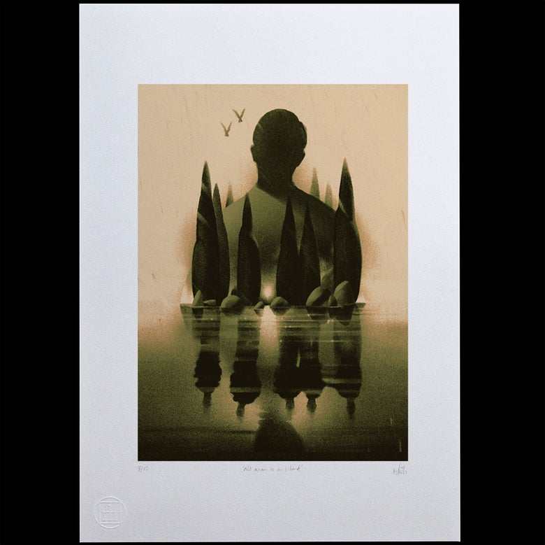 Image of 'No man is an Island' Giclee Print