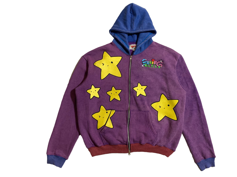 Image of ANIME STARS COLORBLOCK VINTAGE WAS ZIP-UP HOODIE