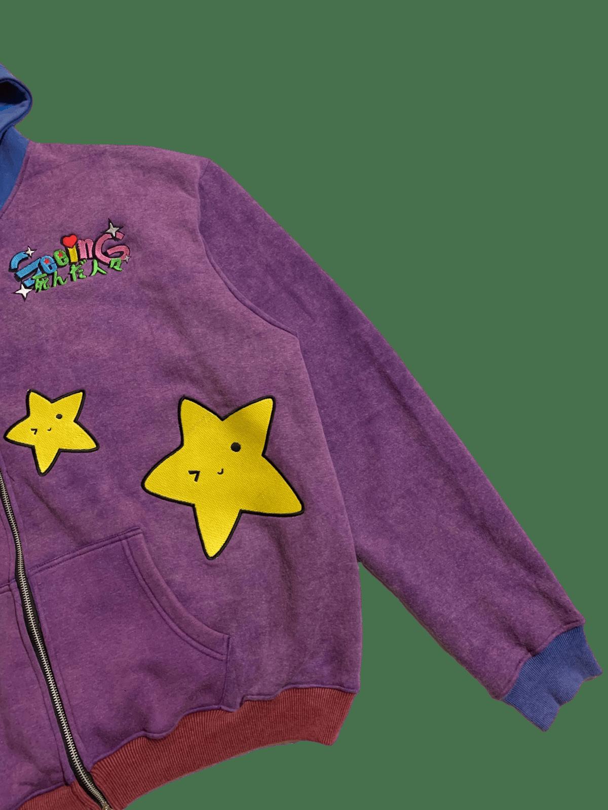 Image of ANIME STARS COLORBLOCK VINTAGE WAS ZIP-UP HOODIE