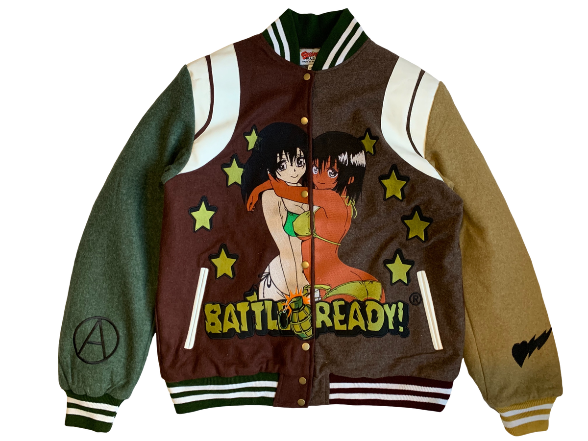 Image of BATTLE READY COLORBLOCK WOOL VARSITY JACKET