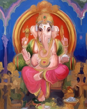 Image of Ganesh e The Family by Rotondi
