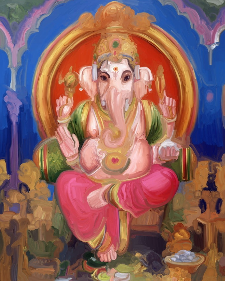 Image of Ganesh e The Family by Rotondi