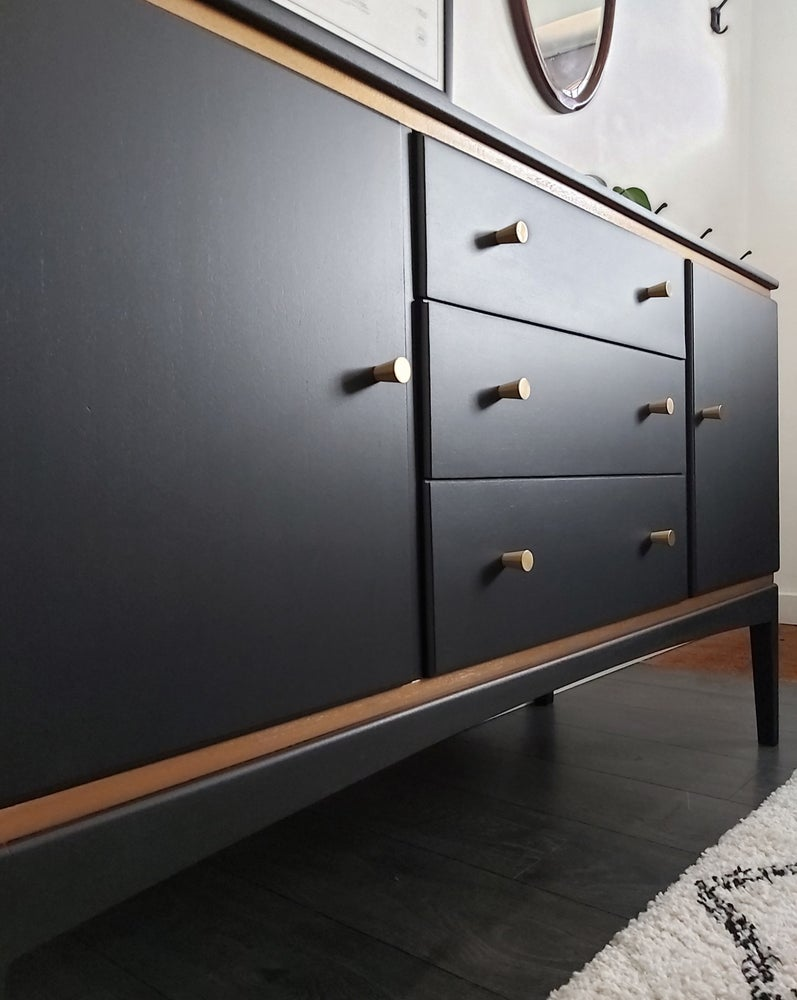 Image of 1950's GIMSON & SLATER 'VESPER' SIDEBOARD IN COAL BLACK