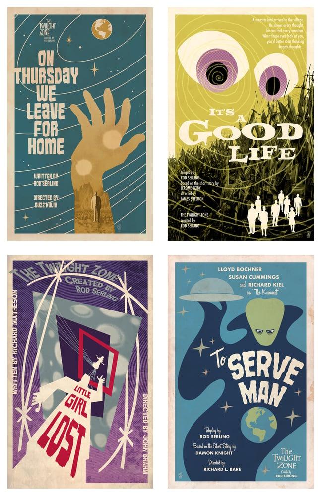 Image of Set of 4 Twilight Zone Mini Prints (you choose!)