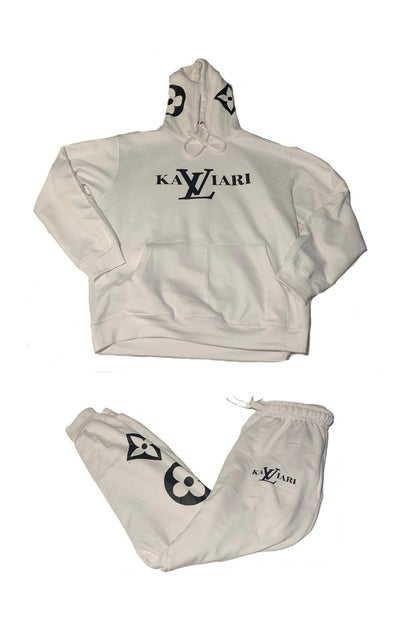 Image of KALVIARI FAUX ORIGINAL SWEATSUIT WHITE